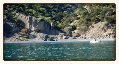 Царский Пляж в голубой бухте